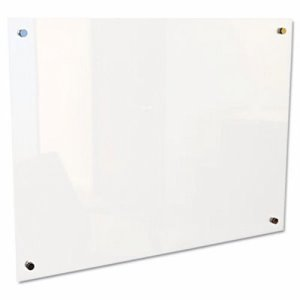 "Best-rite Enlighten Glass Board, Frameless, Pearl, 48"" x 36"" x 1/8"" (BLT83951)"