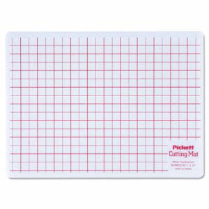Chartpak Self-Healing Cutting Mat, Translucent W/Red Lines (CHAWCM812)