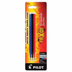 Pilot Refill for FriXion Erasable Gel Ink Pen, Assorted, 3/Pk (PIL77335)