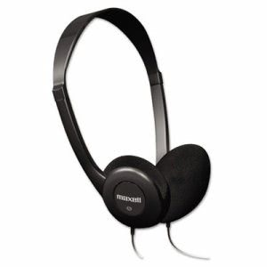 Maxell HP-100 Headphones, Black (MAX190319)