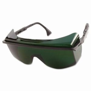 Uvex Astro OTG 3001 Safety Glasses, Black Frame, Shade 5.0 Lens (UVXS2509)
