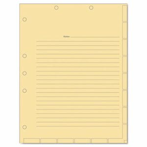 Tabbies Medical Chart Index Divider Sheets, 8-1/2 x 11, 400/BX (TAB54519)