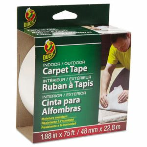 "Duck Carpet Tape, 1.88"" x 75 ft, 3"" Core (DUC442062)"