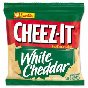 Cheez-It Crackers Single-Serving Snack Pack, White Cheddar, 8 Packs (KEB12653)
