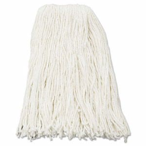 Boardwalk Premium 16-oz Cut-End Rayon Wet Mop Heads, White, 12 Mops (BWK216RCT)