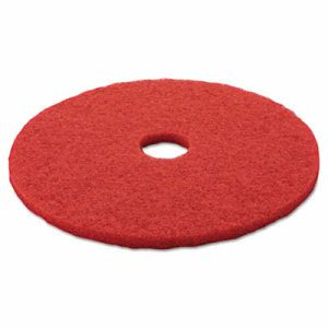"3M Red 20"" Floor Buffing Pad 5100, Non-Woven Polyester Fibers, 5 Pads (MMM08395)"