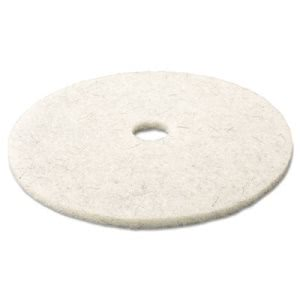 "3M Natural Blend White 17"" Floor Polishing Pad 3300, 5 Pads (MMM18207)"