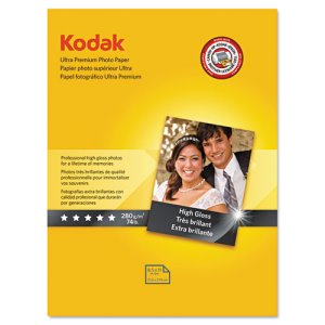 Kodak Ultra Premium Photo Paper, High-Gloss, 8-1/2 x 11, 25 Sheets (KOD8366353)