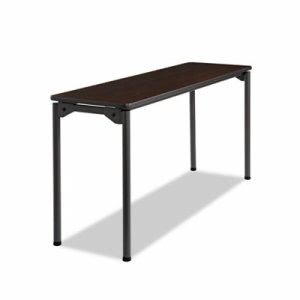 Iceberg Maxx Legroom Table, 18w x 60d x 29-1/2h, Walnut/Charcoal (ICE65874)