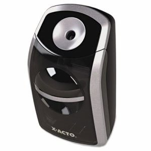 X-acto Portable Pencil Sharpener, Battery Operated, Black/Silver (EPI1770)