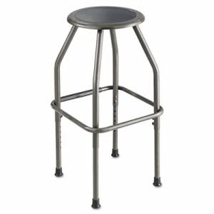 Safco Diesel Stool w/ Stationary Seat, Leather Seat, Pewter Frame (SAF6666)