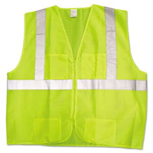 ANSI Class 2 Lime Vest with Silver Reflective (ASC22838)