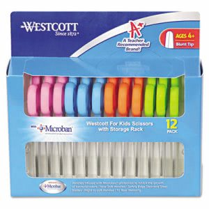 "Westcott Kids Scissors with Microban Protection, Pack of 12, 5"" Blunt (ACM14871)"