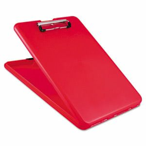 Saunders SlimMate Storage Clipboard, Holds 8 1/2w x 12h, Red (SAU00560)