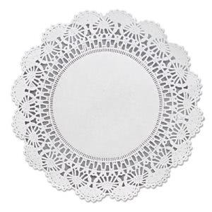 Hoffmaster Round Lace Doilies, White, 1,000 Doilies (HFM 500236)