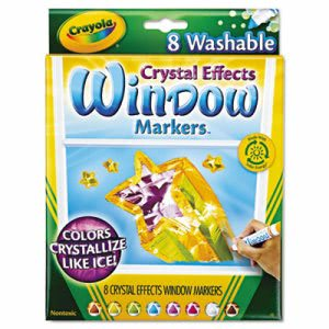 Crayola Washable Window FX Markers, Assorted Colors, 8 Markers (CYO588174)