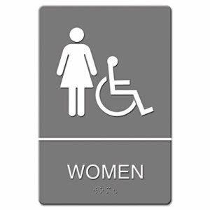 Women HC (Accessible Symbol) ADA Sign (UST 4814)