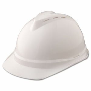 Msa V-Gard 500 Protective Cap Vented, 4-Point Suspension, White (MSA10034018)