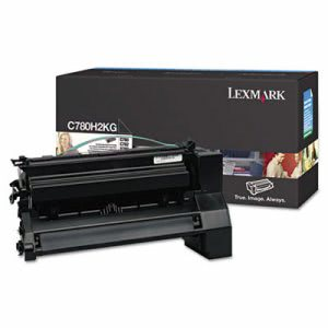 Lexmark C780H2KG High-Yield Toner, 10,000 Page-Yield, Black (LEXC780H2KG)