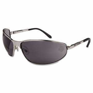 Harley-Davidson HD 500 Series Safety Glasses, Silver Frame, Gray Lens (HRDHD502)