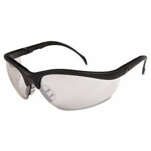 Crews Klondike Safety Glasses, Black Matte Frame, Clear Mirror Lens (CRWKD119)