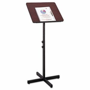 Safco Adjustable Speaker Stand, 21w x 21d x 30h to 46h, Mahogany (SAF8921MH)