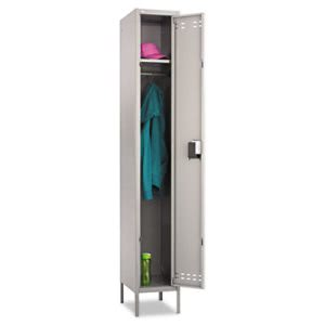 Safco Single Tier Locker, 12w x 18d x 78h, Two-Tone Gray (SAF5522GR)