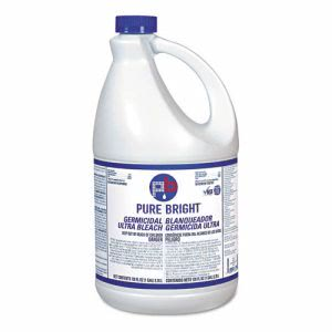 KIK Pure Bright Laundry Bleach & Disinfectant, Gallon, 6 Bottles (KIKBLEACH6)