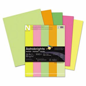 Astrobrights Colored Paper, 8-1/2 x 11, Neon Assortment, 500 Sheets (WAU20270)