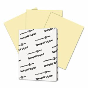 Digital Index Card Stock, 90 lbs., 8-1/2 x 11, Canary, 2500 Sheets (SGH035100)