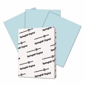 Springhill Index Color Card Stock, 90 lbs., Blue, 250 Sheets (SGH025100)