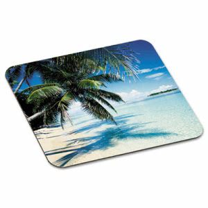 "3m Scenic Foam Mouse Pad, Nonskid Back, 9"" x 8"", Beach Design (MMMMP114YL)"