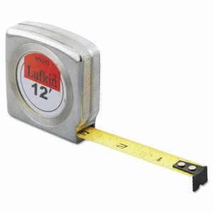 Lufkin Mezurall Measuring Tape, 1/2in x 12ft, Yellow (LUFW9212)