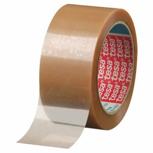 "Tesa Carton Sealing Tape, 2"" x 55yd, Polypropylene, 1 Roll (TSA042630005500)"
