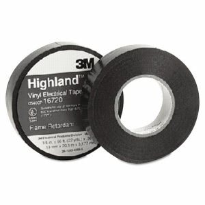 "3m Highland Vinyl Grade Electrical Tape, 3/4"" x 66ft, 1"" Core (MMM16720)"