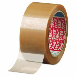 "Tesa Carton Sealing Tape 2"" x 110yd, Clear, 1 Roll (TSA042640000200)"