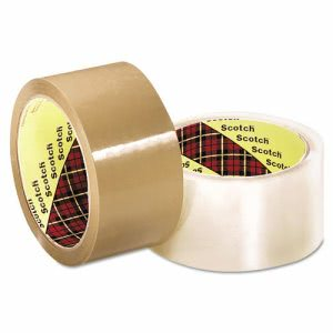 3m Scotch 371 Industrial Box Sealing Tape, Clear, 48mm x 50m (MMM2120013679)