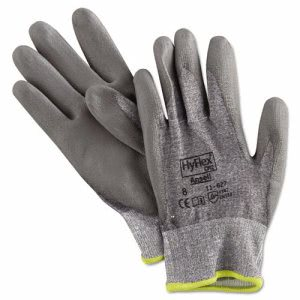 Ansell Hyflex Work Gloves, Gray, Medium Size, 12 Pairs per Case (ANS 11627-8)