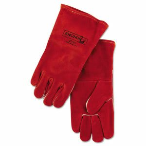 Anchor Brand 20GC Welding Gloves, Split Cowhide, 4in Cuff, Large (ANR20GC)