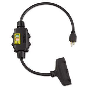 Ericson In Line GFCI Interrupter, 2 Ft Cable, 12/3 AWG, 15A, 125V (ERCXG2122TT)