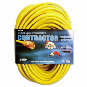 Cci Vinyl Extension Cord, SJTW-A, 100ft Long, 10/0 AWG, Yellow (COC02689)