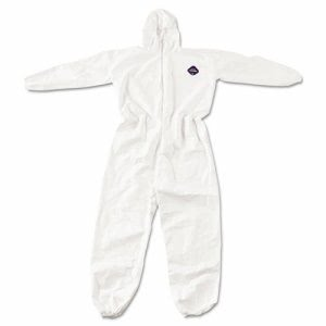Dupont Tyvek Elastic-Cuff Hooded Coveralls, White, XXXX-Large (DUPTY127S4XL)