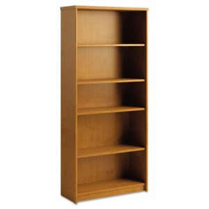 Bush Furniture Envoy Series Five-Shelf Bookcase, Natural Cherry (BSHPR76365)