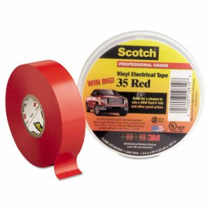 "3m Scotch 35 Vinyl Electrical Color Coding Tape, 3/4"" x 66ft, Red (MMM10810)"