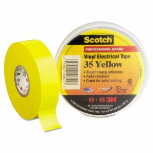 "3m Scotch 35 Vinyl Electrical Color Coding Tape, 3/4"" x 66ft, Yellow (MMM10844)"