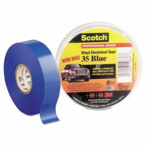 "3m Scotch 35 Vinyl Electrical Color Coding Tape, 3/4"" x 66ft, Blue (MMM10836)"