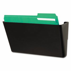 Universal Recycled Wall File, Add-On Pocket, Plastic, Black (UNV08122)