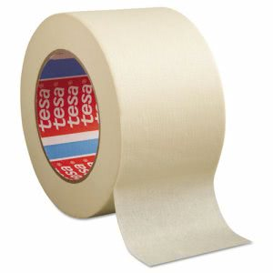 "Tesa General Purpose Masking Tape, 3"" x 60yd, Crepe, 12 Rolls (TSA501240000000)"