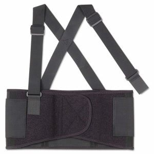 Ergodyne ProFlex 1650 Economy Elastic Back Support, Large, Black (EGO11094)