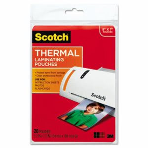 Scotch Photo Size Thermal laminating Pouches, 20 Pouches (MMMTP590320)
